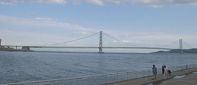世界一の吊り橋・明石海峡大橋