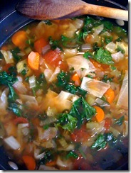 Veggie Soup with Lemon