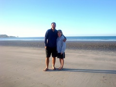 Karolyn and Jeff on beach