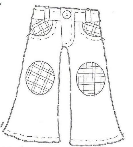 Dibujos de pantalones y camisas para colorear - Imagui