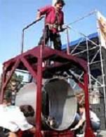 Рекорд Дмитрия Халаджи - подъем трубы весом в тонну