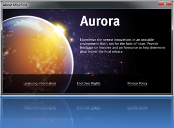 Mozilla-Rilis-Firefox-5-Aurora-first-Build