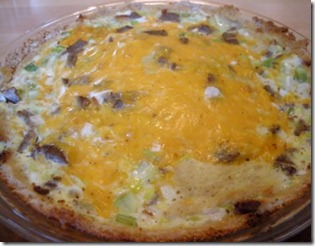 bread crust quiche trimmed