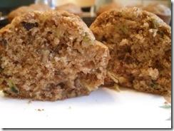 zucchini muffin cut