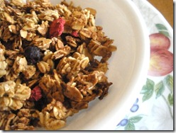 triple berry fiber power granola