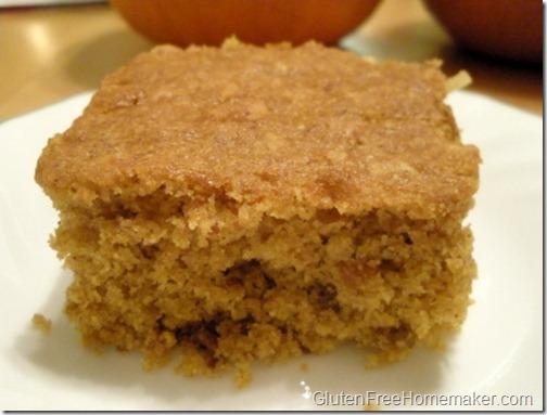 pumpkin sheet cake piece