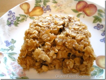 baked oatmeal - on plate