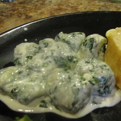 Spinach Gnocchi with Gorgonzola Cream Sauce