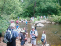 Crossing Caffee Creek where it emptys into the Cahaba River Photo