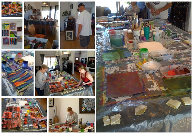 Painting Day Collage
