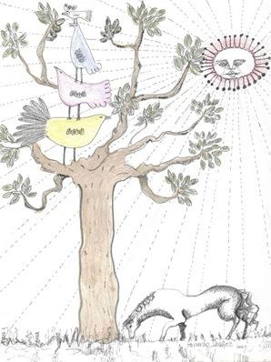 Caballo y árbol