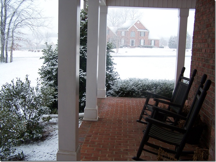 Front porch with snow 001