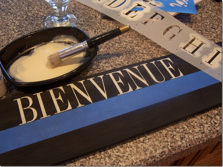 Bienvenue Sign 006