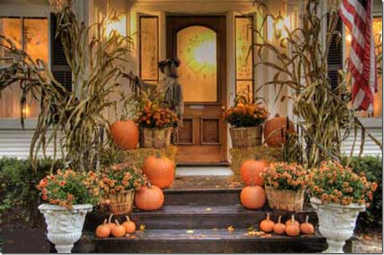 Pickles And Cheese Front Porches Decorated For Halloween