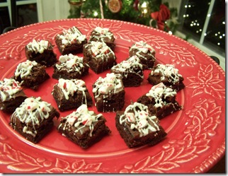 Peppermint Brownie Bites 023