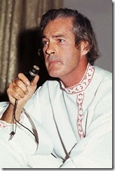 Tim Leary with mic