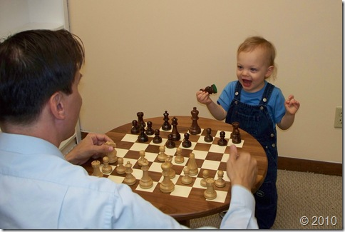 Curtis Chambers - My son and I playing Chess