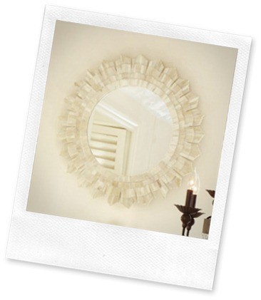 Bone Sunburst mirror