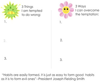 Overcome Temptation Worksheet