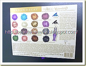 urban decay Alice In Wonderland colours