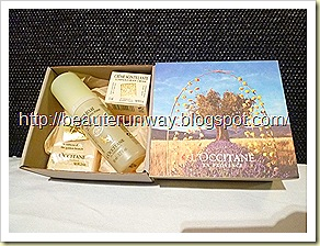 L'occitance olive body cream, cleansing foam  . soap set