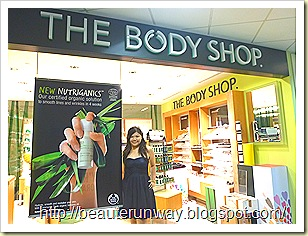 Nutriganics The Body Shop Anti-aging organic skin care in singapore