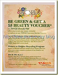 tangs recycling programme