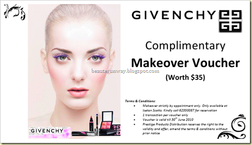 givenchy X beaute runway collaboration
