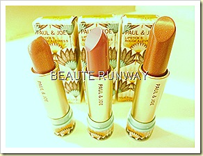 Paul & Joe 2010 Summer Sahara Collection Lipstick S - caravan pink, sahara vivid and mocorrcan gold pink