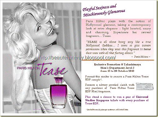 Paris Hilton TEASE EDP Beaute Runway