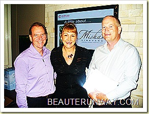 Misha & Andy Wilkinson together with  Oliver Masters  wine maker for Misha's Vineyard