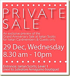 Isetan Private Sale dec 2010