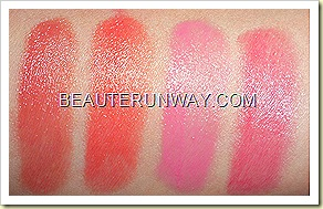 Clinique Chubby Sticks Swatches - Whole Lotta Honey, Mega Melon Wopping' Watermelon, Super Strawberry
