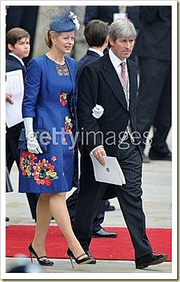 LADY HELEN TAYLOR WORE JIMMY CHOO 247 GLASS IN NAVY PATENT