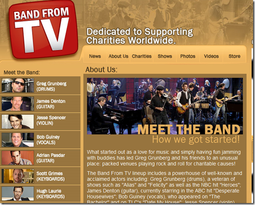 Official Band From TV Website Meet the Band