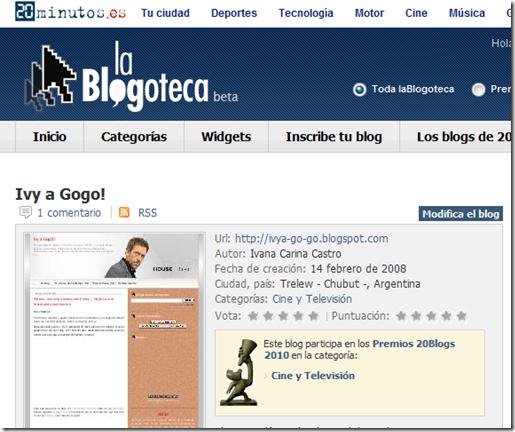 Blogs - laBlogoteca, Ivy a Gogo!