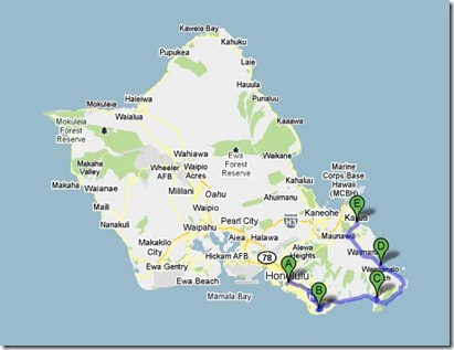 Honolulu, HI to Kailua, HI - Google Maps_1288727082112
