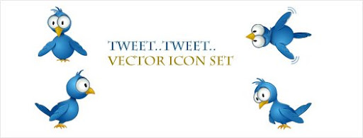 Tweet Tweet Vector Icon set