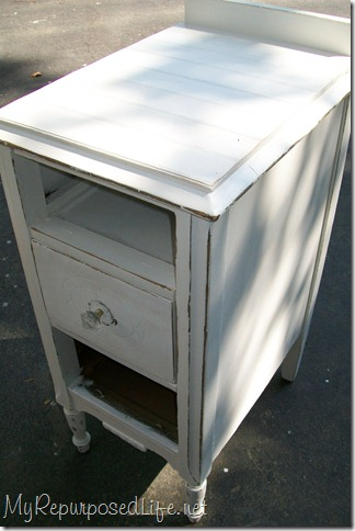 Vintage nightstand makeover my repurposed life for How to make a nightstand higher