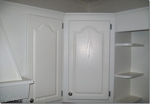 Painted White Oak Kitchen Cabinets Home design and Decorating