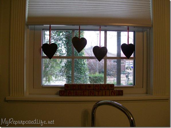 valentine chalkboard hearts