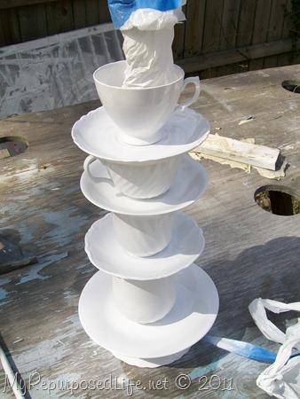 teacup lamp DIY