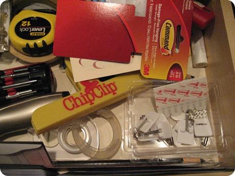 Junk drawer hooks