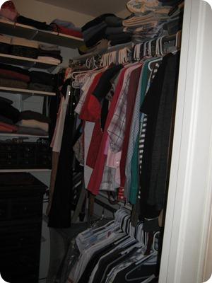Old cramped closet