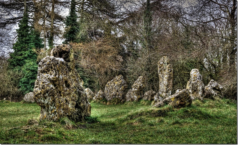 rollright stones close up