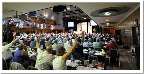 methodist conference wolverhampton 2009 vote being taken