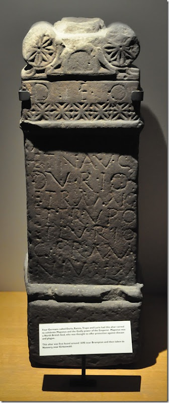 carved altar to the north british god maponus and the roman emperor copy