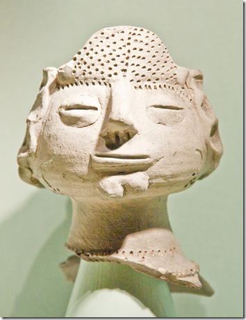 female british celtic pottery head from the third century