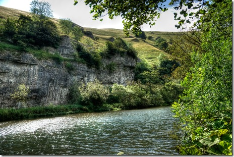 river wye at miller&#39;s dale in derbyshire copy