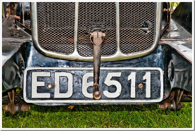 jowett ed6511 number plate and starting handle copy